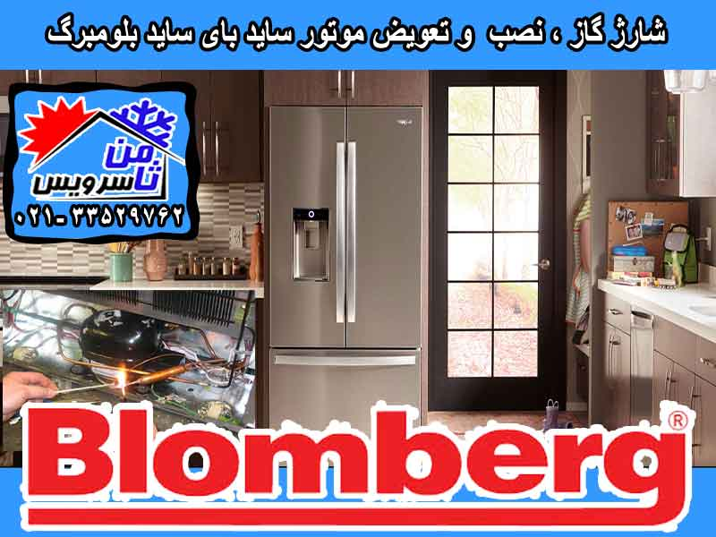 Blomberg side by side compressor eplacement & gas charging at home in Tehran & Mashhad