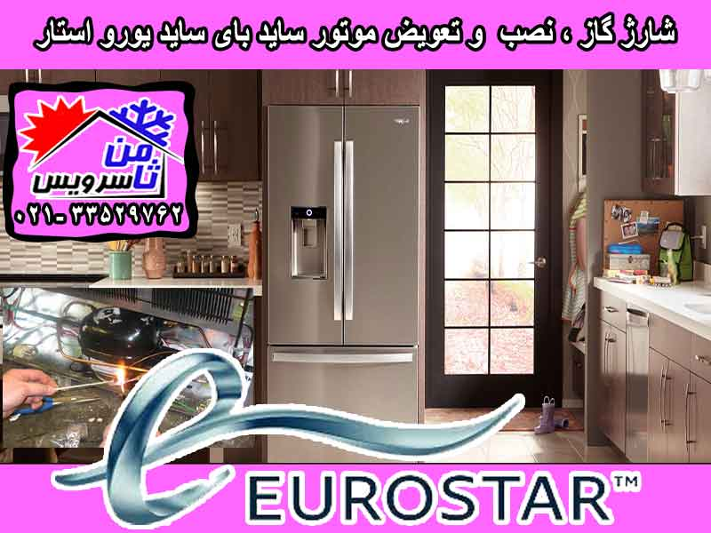 Eurostar side by side compressor eplacement & gas charging at home in Tehran & Mashhad