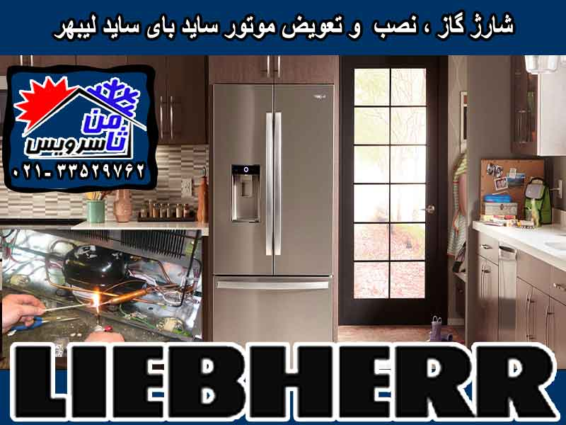 Liebherr side by side compressor eplacement & gas charging at home in Tehran & Mashhad